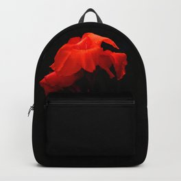 Orange Indian Reed Lily Flower Backpack
