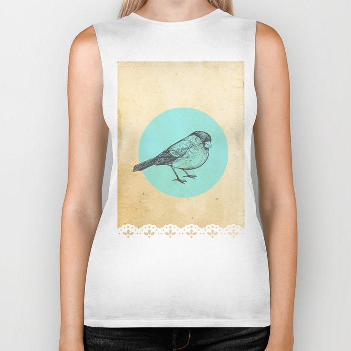 Spotted bird Biker Tank
