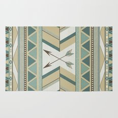 Aztec Pattern Arrows Rug