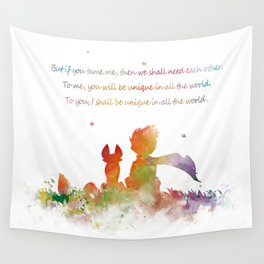 Little Prince Fox Wall Tapestry