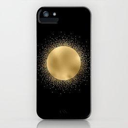 Golden Sun Tarot Style On Black iPhone Case