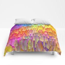 Vibrant Rainbow Cascade Design Comforters