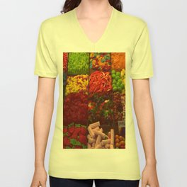 Colorful Candies Unisex V-Neck