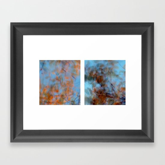 Autumn Impressions #1 - Diptych Framed Art Print