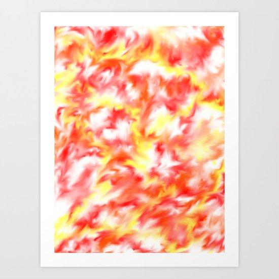 Smokey Flowers Art Print