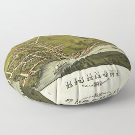 Aerial View of Richmond, Maine (1878) Floor Pillow