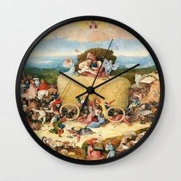 The Haywain Triptych by Bosch 1519 Wall Clock