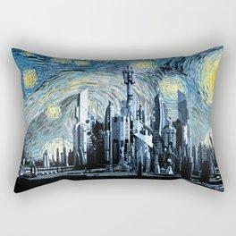 Starry Night Over Atlantis Rectangular Pillow