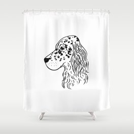 English Setter (Black and White) Shower Curtain