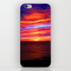 Sunset by the sea - Painting Style iPhone & iPod Skin