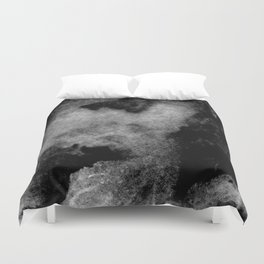 Textures (Black and White version) Duvet Cover