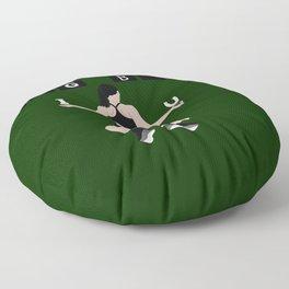 Big butt green Floor Pillow