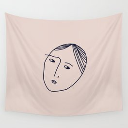 always suspicious Wall Tapestry