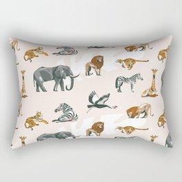 African Planes Pattern Rectangular Pillow