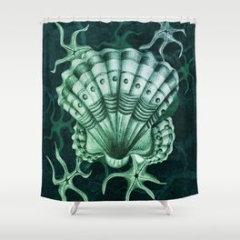 Dystopian Cockle - Lambent Green Shower Curtain