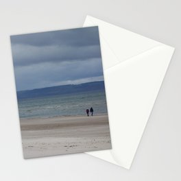 Figures on The Beach at Nairn, Scotland Stationery Cards