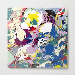 circle color fractures Metal Print