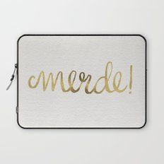 Pardon My French – Gold Ink Laptop Sleeve