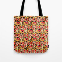 frida Tote Bags featuring Frida by Bouffants and Broken Hearts