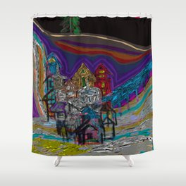 lonely village Shower Curtain