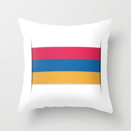 Flag of Armenia. The slit in the paper with shadows.  Throw Pillow