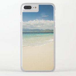 Gili meno island beach Clear iPhone Case