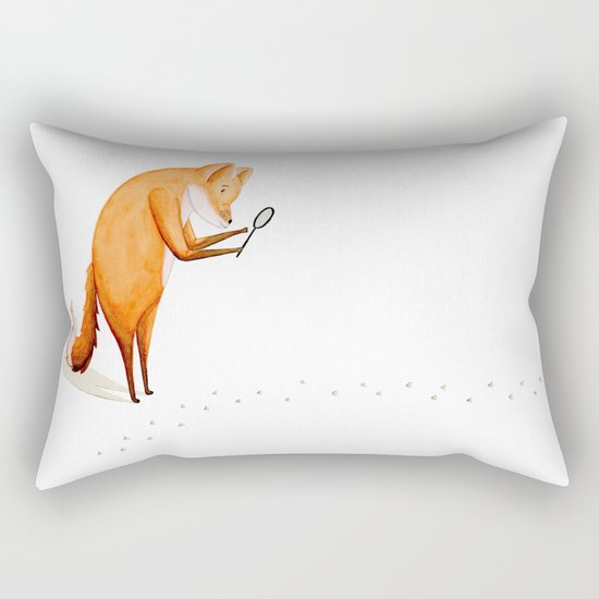 Foxy Detective Rectangular Pillow