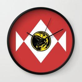 Red, Power Ranger, Hero Design Wall Clock