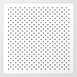 Minimal - Small black polka dots on white - Mix & Match with Simplicty of life Art Print
