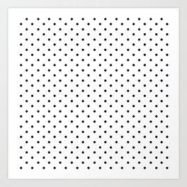 Minimal - Small black polka dots on white - Mix & Match with Simplicty of life Kunstdrucke