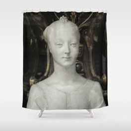 White Lady Marble Sculture Statue Shower Curtain