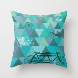 Tour de'Triangle Throw Pillow