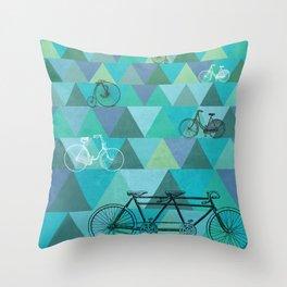 Tour de'Triangle Throw Pillow