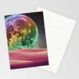 Rainbow Moonset Stationery Cards