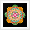 Summer Mandala on black by katealli