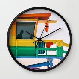 Rainbow Lifeguard Tower Wall Clock