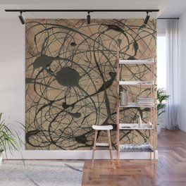Pollock Inspired Cool Abstract Splatter Drip Art Painting - Corbin Henry Wall Mural