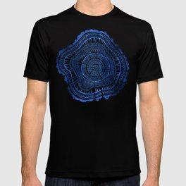 Growth Rings – 65 Years – Navy T-shirt