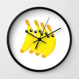 bananas throwing shade Wall Clock