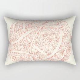 Natural circle Rectangular Pillow