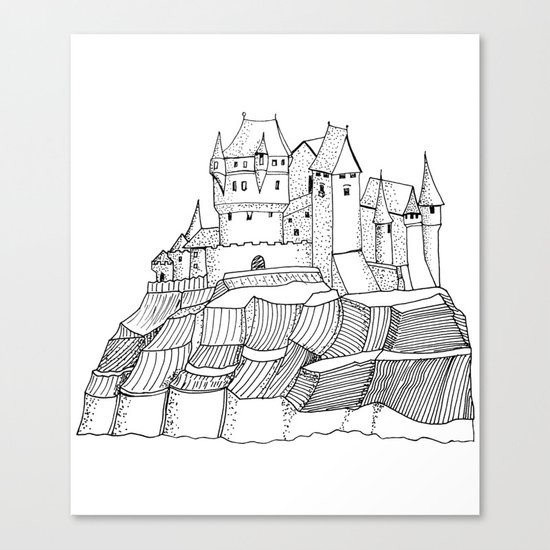 Castle on the cliff Canvas Print