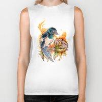 gemma Biker Tanks featuring Magpie by Gemma Pallat by ToraSumi