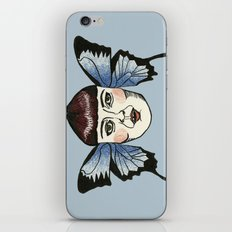 butterfly lady. iPhone & iPod Skin
