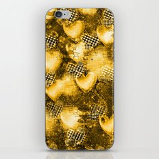 Light Bulb Hearts Series (Gold) iPhone & iPod Skin