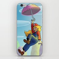 princess peach iPhone & iPod Skins featuring Princess Peach by Lisa Lynne Lumos