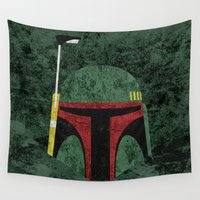boba Wall Tapestries featuring Boba Fett by Some_Designs