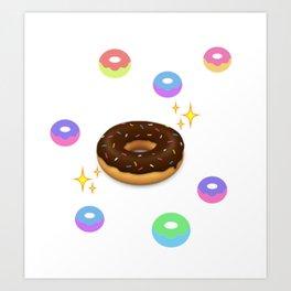 donut alien sustinence Art Print