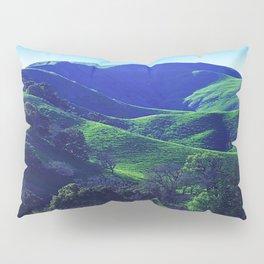 Lush Green Grass Majestic Meadow Scenic Photo Pillow Sham