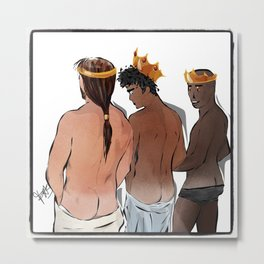 The Curious Three Magi Kings Metal Print