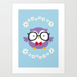 Cute Owl Poster Art Print